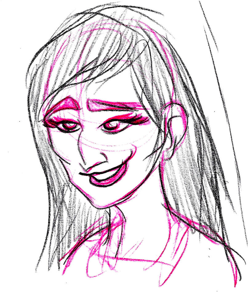 Smiling Woman Sketch by pineapplepidecd92