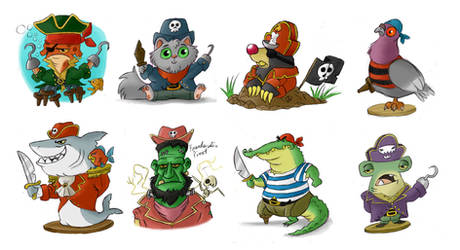 Miscellaneous pirate characters by pineapplepidecd92