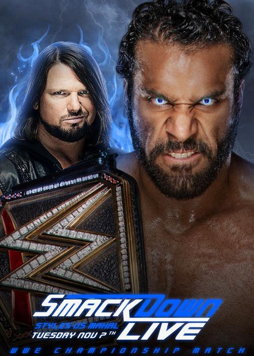 Jinder Mahal vs AJ Styles for the WWE Championship