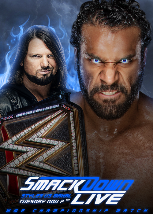 Jinder Mahal vs AJ Styles for the WWE Championship by ArselGFX