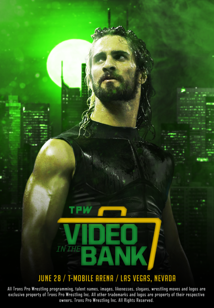TPW Video In The Bank 2018 official poster by ArselGFX