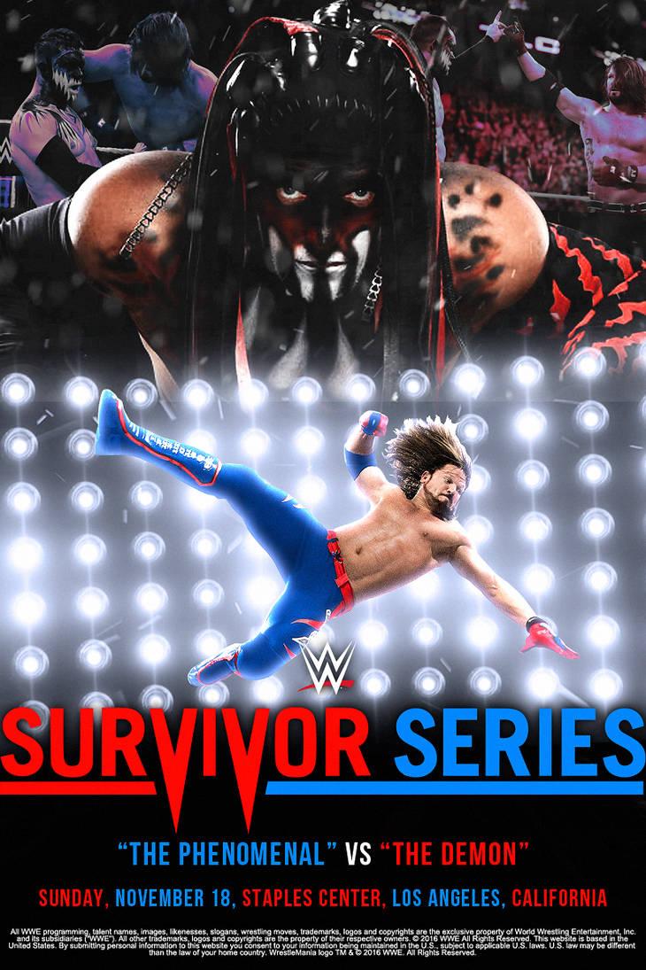 AJ Styles vs Finn Balor - Survivor Series 2018 by ArselGFX