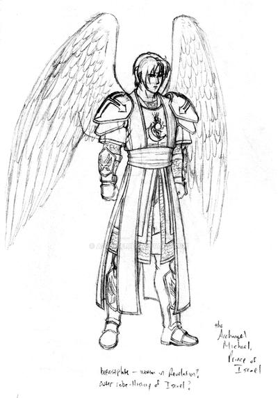 Michael the archangel by aremke on deviantart for St michael coloring page