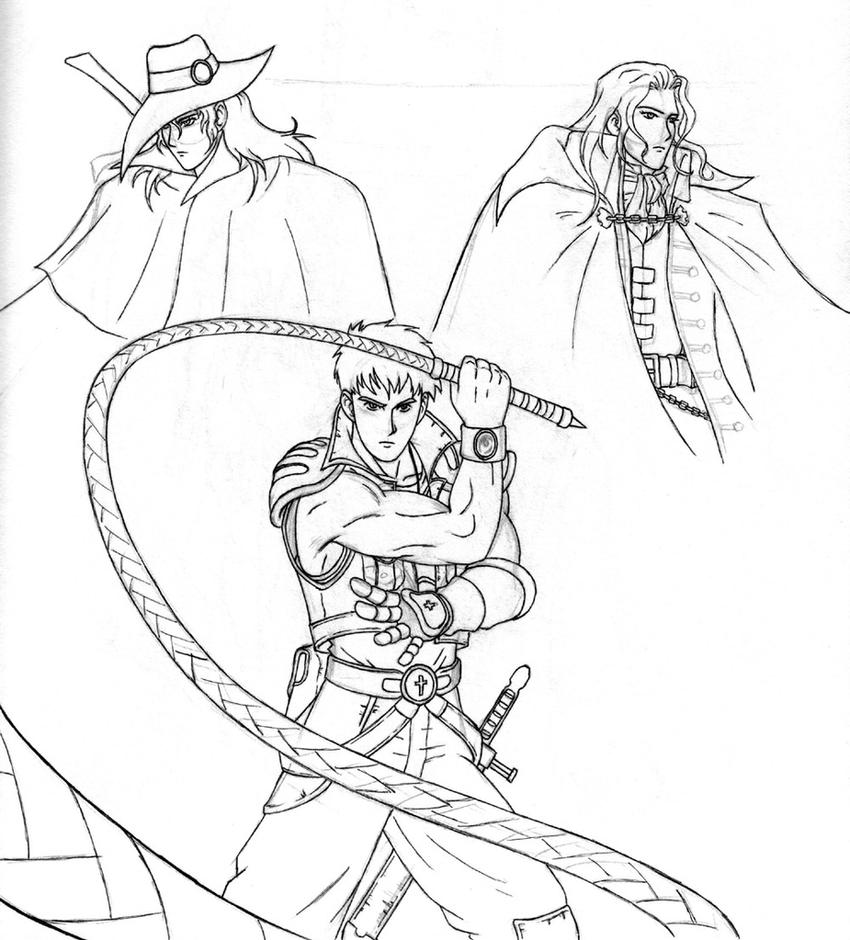 Anime Castlevania Coloring Pages