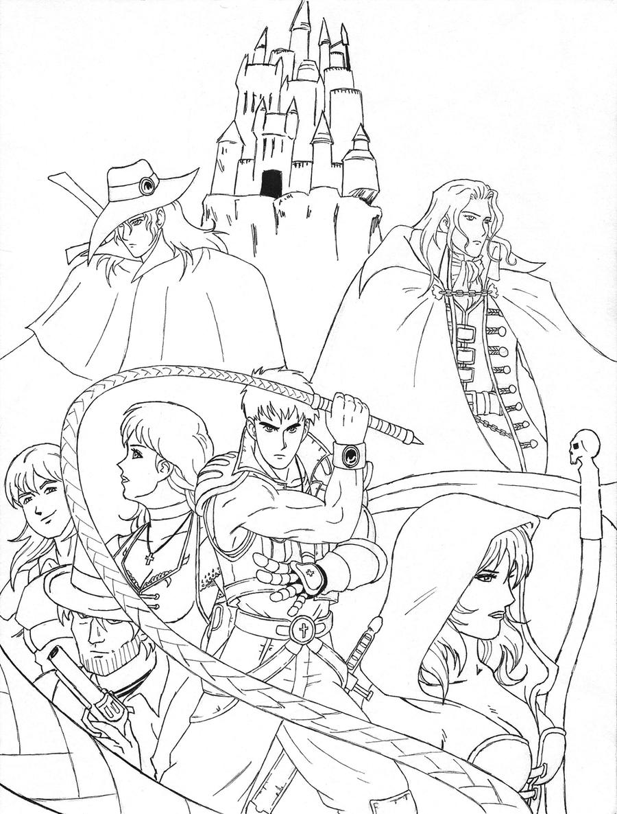 free to color castlevania hunter d wip 2 by aremke on deviantart