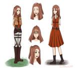 Shingeki No Kyojin- Amelia Proulx (redesigned)