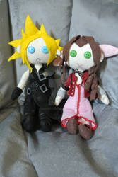 Cloud and Aerith Dolls