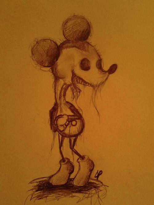 Gammell inspired Mickey Mouse by The-Devils-Music