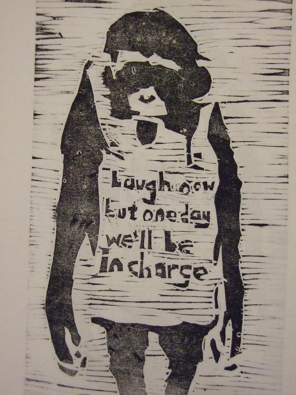 Banksy's monkey by redmingum
