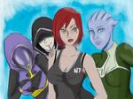 Girls from Mass Effect