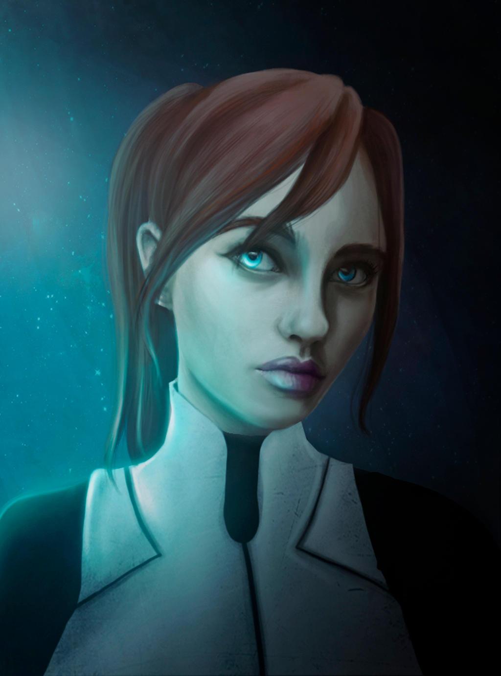 Sara Ryder - Mass Effect Andromeda Fanart (MEA) by Luh-Dwolf