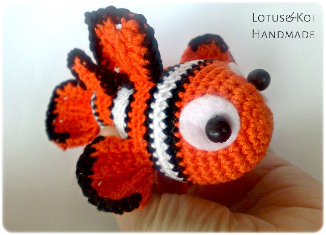 PATTERN Finding Nemo Inspired Clownfish Amigurumi | Crochet ... | 461x640