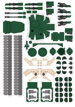 Space Marine Predator part3