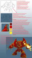 Killer Robot Coloring Tutorial