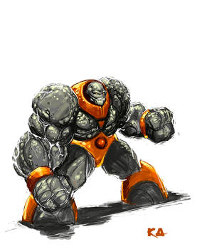 Rock Man Speed Paint