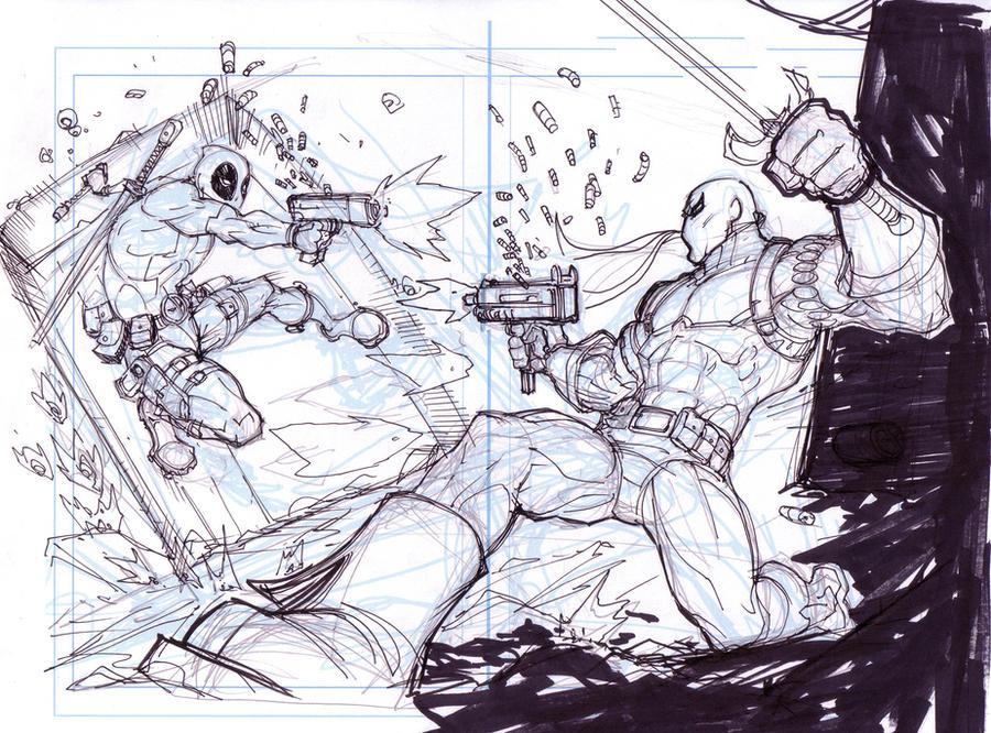 Deathstroke Vs Deadpool Drawings. Deathstroke Vs Deadpool Drawings Deathstroke  Coloring Coloring Pages