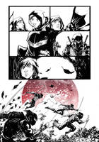 Samurai Sneak Peek RED by KomicKarl