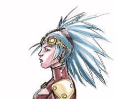 Steampunk Girl 02 by KomicKarl