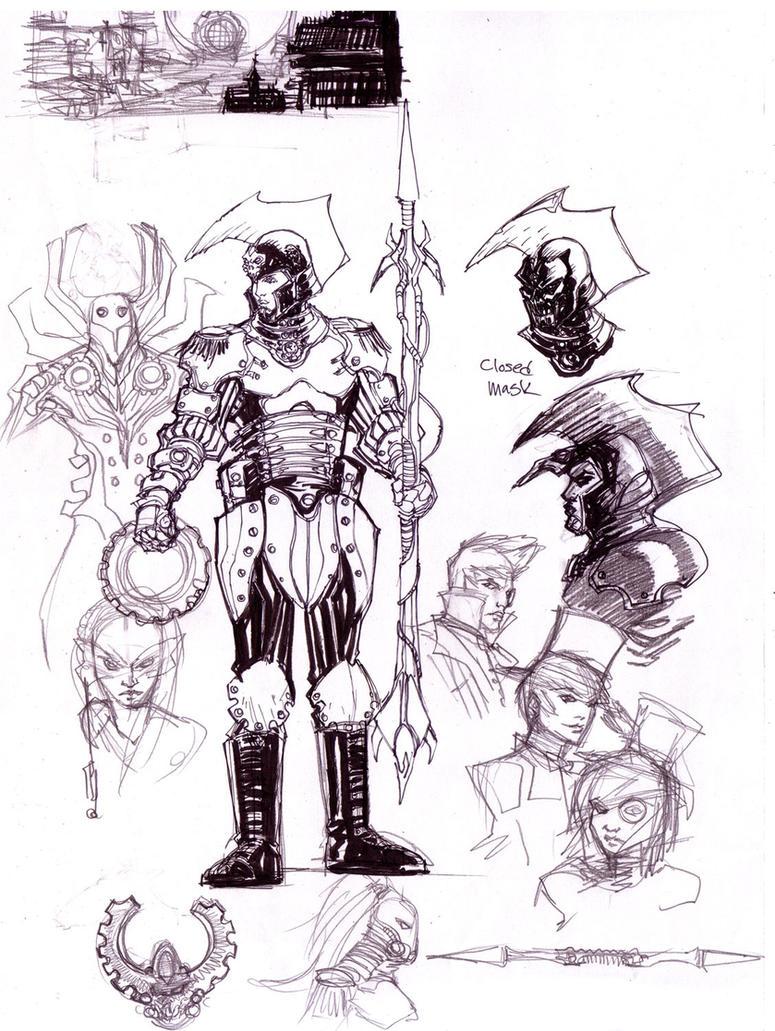 Steampunk Sketches by KomicKarl