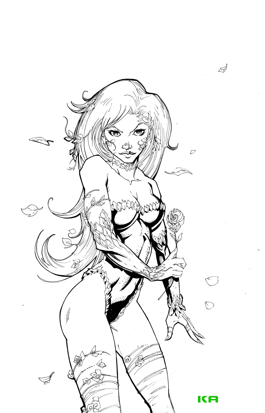 Poison Ivy Commission by KomicKarl
