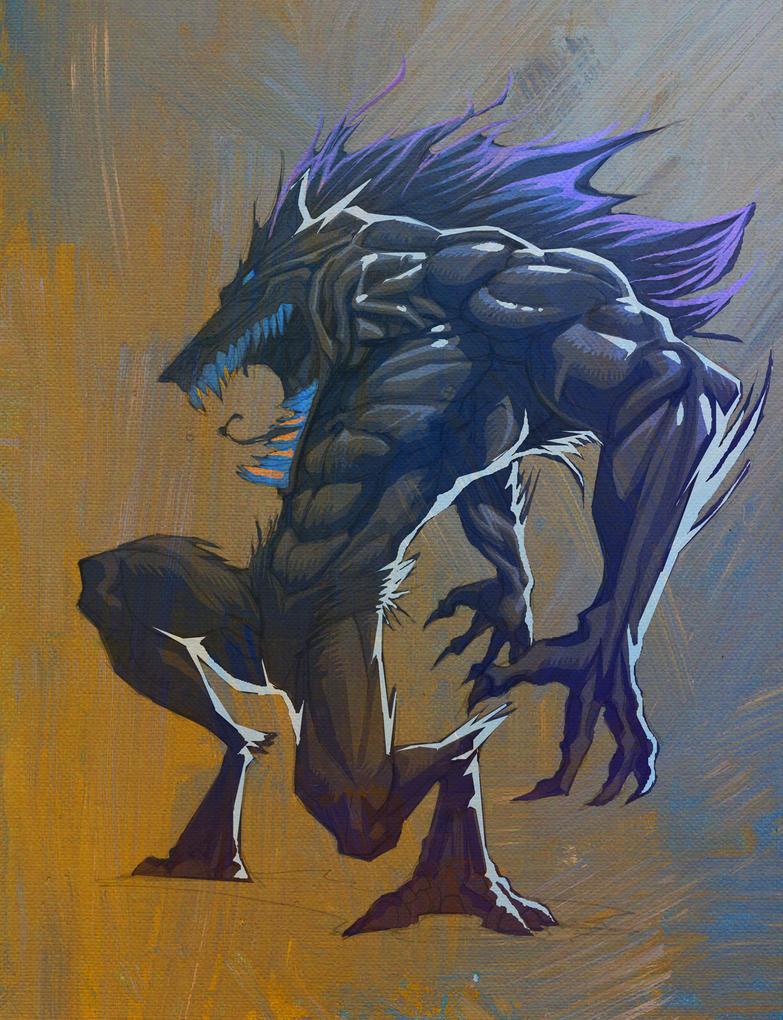 Werewolf Paint WIP by KomicKarl
