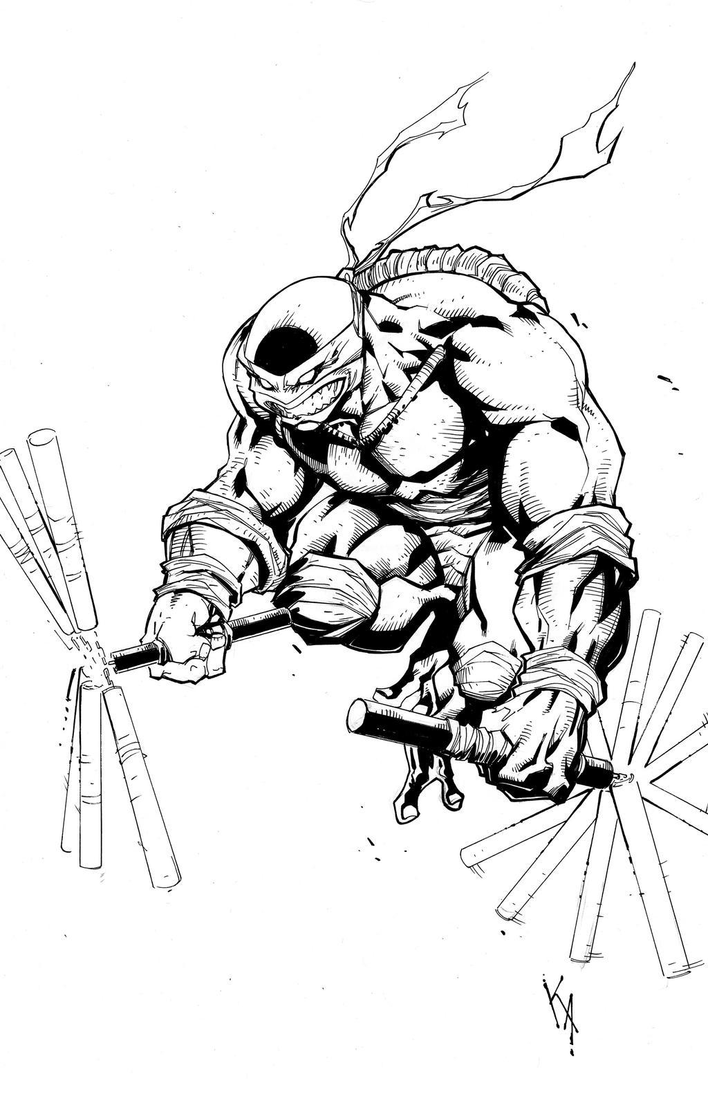 Ninja turtle michelangelo drawing - photo#15