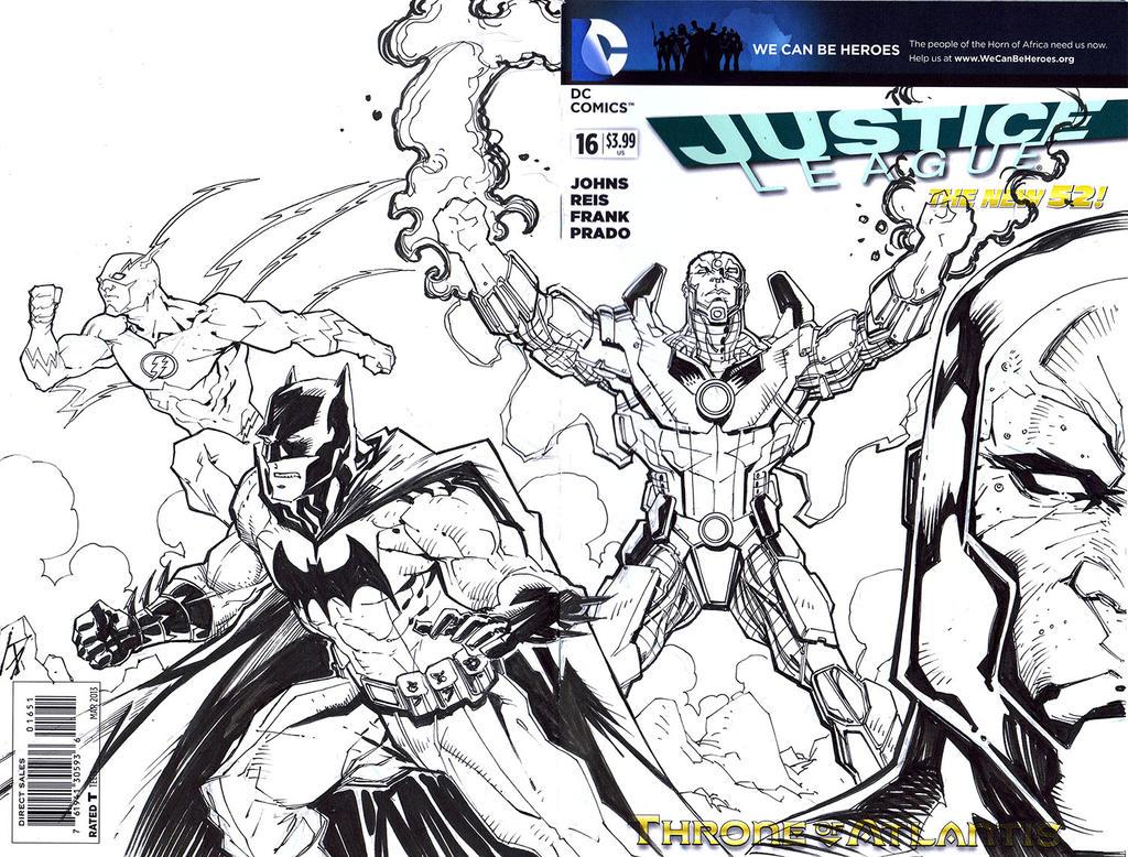 JLA Sketch Cover by KomicKarl