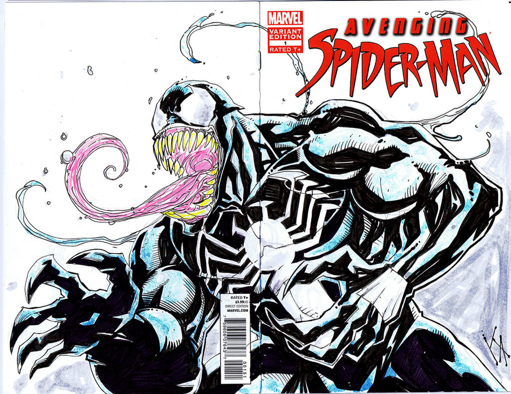 Venom Sketch Cover by KomicKarl