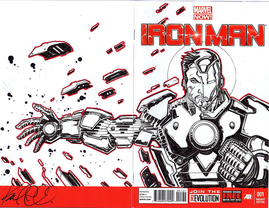 Iron Man Sketch Cover by KomicKarl