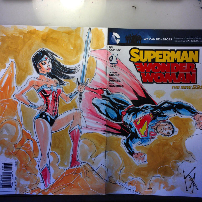 Wonder Woman Superman by KomicKarl