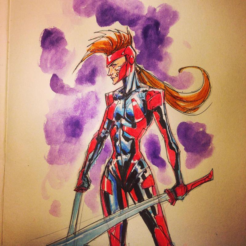 Watercolor Sketch 02 by KomicKarl