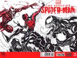 Spider-Man vs Venom and Carnage by KomicKarl