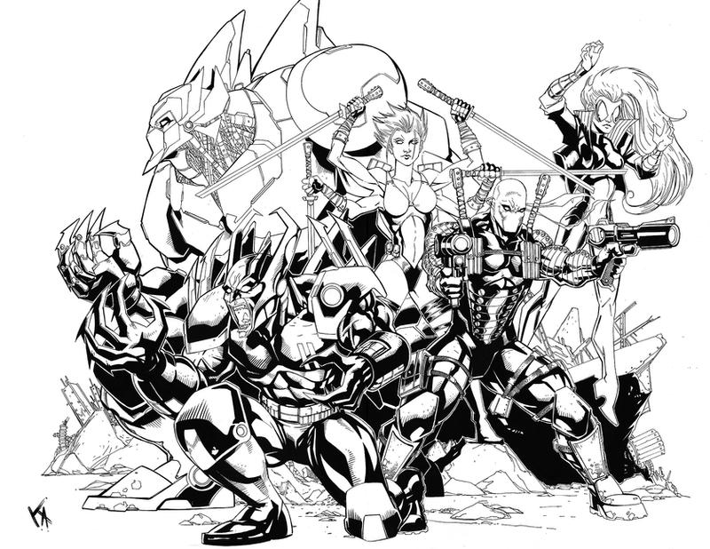 BloodStrike Group Commission by KomicKarl