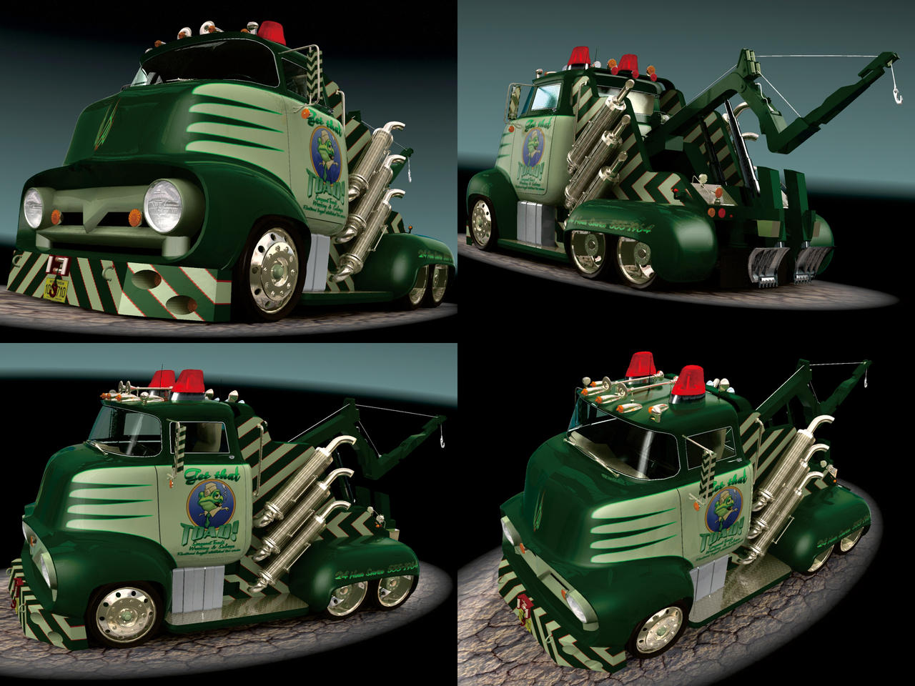 1956 Ford F500 Tow Truck by