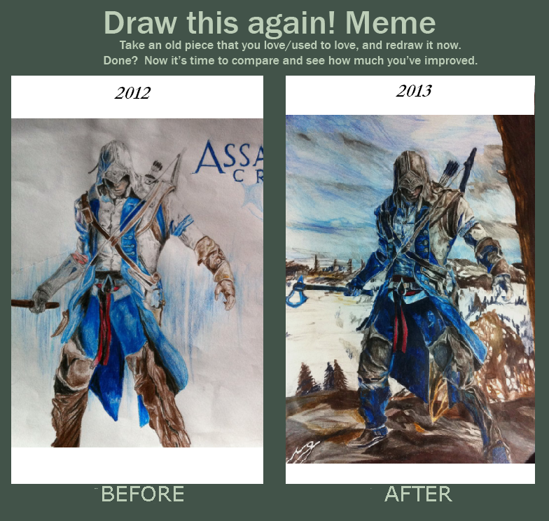 Draw This Again Meme Assassin S Creed 3 Connor By Seasparkle