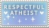 atheist stamp by coffeepupp