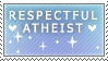 atheist stamp by coffeepupp
