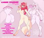 Canine Femenine body REFERENCE SHEET - P2U Base!