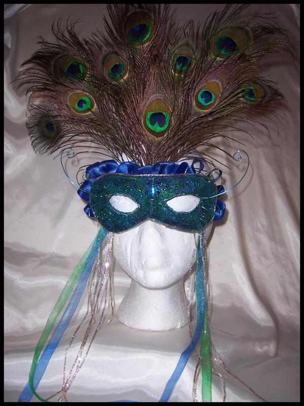 Peacock Queen Mask by PurrpleCatt