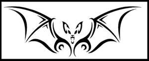 Tribal bat by PurrpleCatt