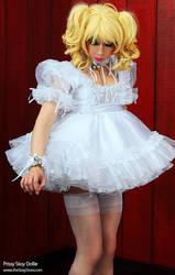In my lovely prissy sissy bridal dress by urobolus83
