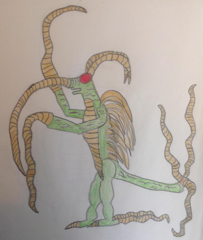 Fan-Made Kaiju: Whip King by Kaijufan97