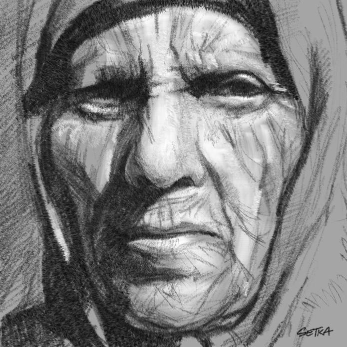 Old woman by setkastudio