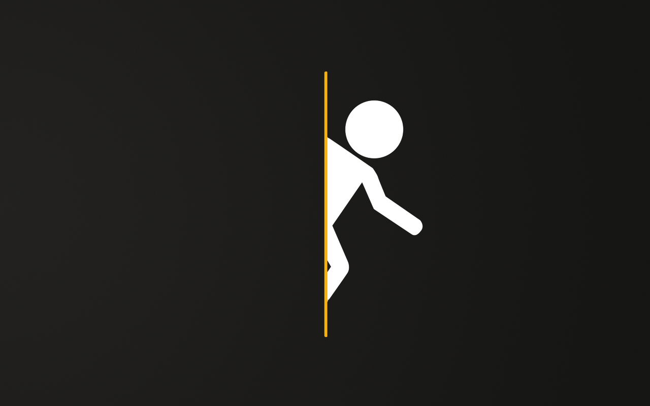 Minimalist Portal Wallpaper for Dual Screens by younggeorge