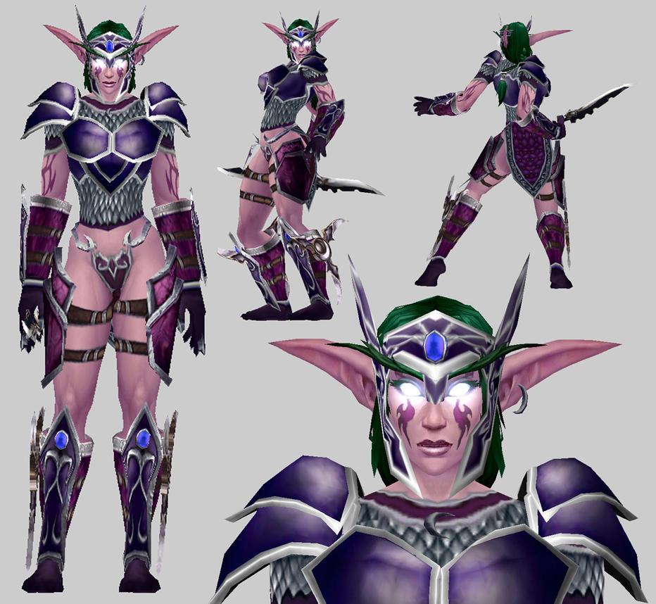 Night Elf Sentinel model for Warcraft 3 by arcane-villain