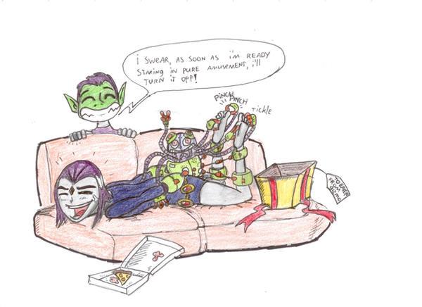 Raven Teen Titans Feet Tickled by kaasmeisjeNL