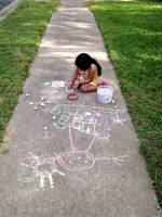 Sidewalk Chalk by Mictecacihuatl-Stock