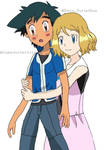 Serena hugging Ash