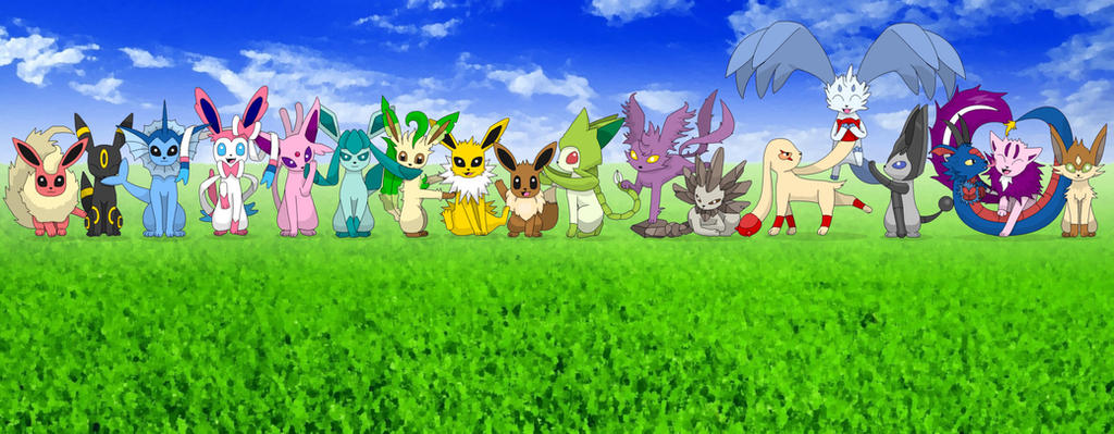 The 18 Elemental Types X Eevee And Evolutions By: Eevee Evolutions