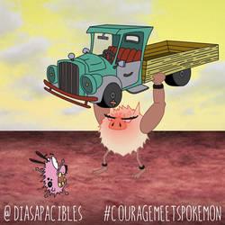 Courage Meets Primeape by diasapacibles